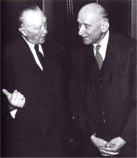 photo de Robert SCHUMAN : Avec Konrad Adenauer